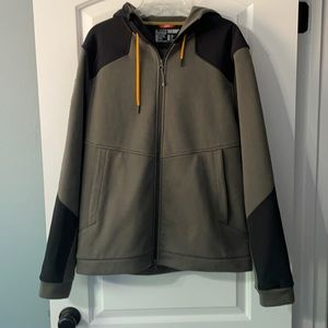Mens 5.11 Tactical Charcoal Armory Jacket Sweatshirt with Hood. Size large.